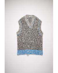 Acne Studios Fn-wn-knit000334 White/black Chunky Sweater Vest
