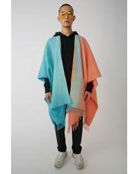 Acne Studios - Poncho multicolore - Lyst