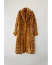 Acne Studios Fn-wn-outw000050 Saffron Orange Faux Fur Coat