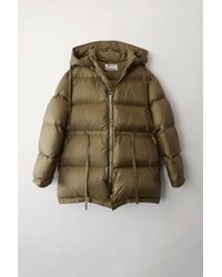 Acne Studios - Fn-wn-outw000017 Olive Green Down Filled Coat - Lyst