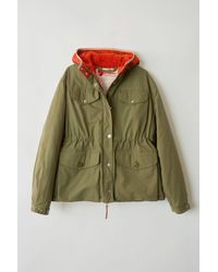 Acne Studios - Greenland W A/f Olive Green Oversized Jacket - Lyst