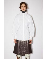 Acne Studios Dolman Button Shirt - White