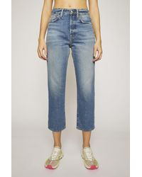 Acne Studios Cropped Straight Fit Jeans mid Blue