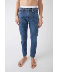 Acne Studios - Tapered Leg Jeans - Lyst