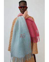 Acne Studios Kelow Dye Rose/pêche/gris Écharpe teintée - Multicolore