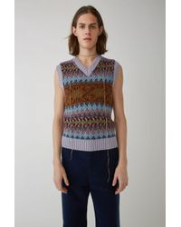 Acne Studios - Fn-mn-knit000004 Lilac/burgundy Sweater Vest - Lyst