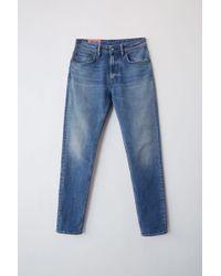 Acne Studios - Melk Mid Blue Mid Blue High Waisted Jeans - Lyst