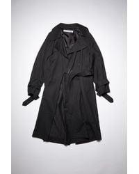 Acne Studios Lined Trench Coat - Black