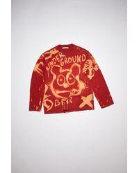 Acne Studios Fn-wn-swea000155 Cardinal Red Crew Neck Sweatshirt