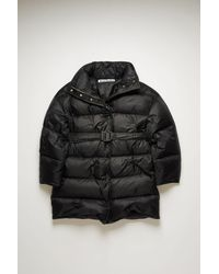 Acne Studios Fn-wn-outw000322 Black Belted Puffer Coat