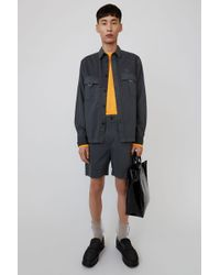 Acne Studios - Cotton Shorts anthracite Grey - Lyst