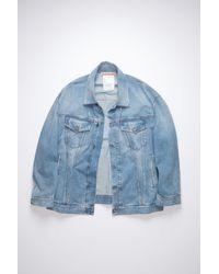 Acne Studios Fn-ux-outw000008 Mid Blue Oversized Denim Jacket