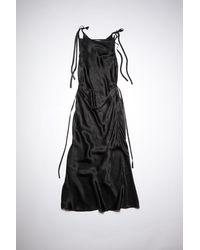 Acne Studios Hammered Satin Dress - Black