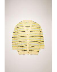 Acne Studios - Fn-wn-knit000186 Yellow/multi Striped Cardigan - Lyst