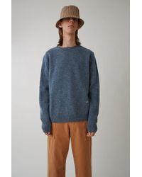 Acne Studios - Lightweight Pullover blue Melange - Lyst