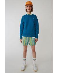 Acne Studios - Regular Fit Sweatshirt teal Blue - Lyst