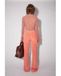 Acne Studios Pantalon en velours - Multicolore
