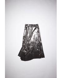 Acne Studios Fn-wn-skir000283 Anthracite Grey Asymmetric Skirt