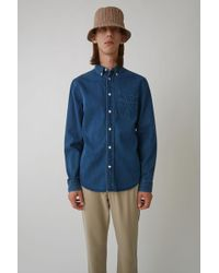 Acne Studios - Classic Fit Shirt rinsed Denim - Lyst