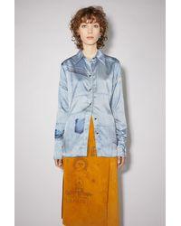 Acne Studios Denim Print Shirt - Blue