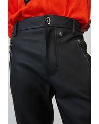 Acne Studios Pantalon en cuir ajusté - Noir