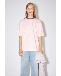 Acne Studios - Logo Binding T-shirt powder Pink - Lyst