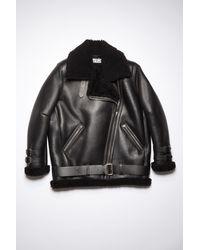 Acne Studios Velocite Black / Black Shearling Aviator Jacket