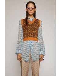 Acne Studios Flower-jacquard Vest orange
