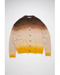 Acne Studios Fn-wn-knit000341 Brown/multi Striped Cardigan - Multicolor
