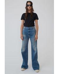 Acne Studios Wide-leg Workwear Trousers mid Blue