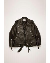 Acne Studios Oversized Leather Jacket black