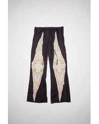 Acne Studios Sp-wn-trou000007 Black/white Linen Trousers