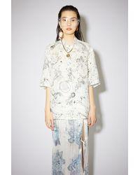 Acne Studios - Printed Shirt white - Lyst