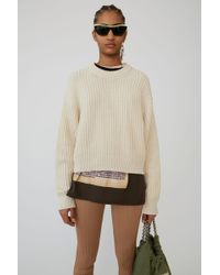 Acne Studios - Ribbed Jumper ivory White - Lyst