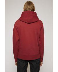 Acne Studios Sweat à capuche coupe classique - Rouge