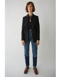 Acne Studios - Two-tone Denim Trousers indigo Blue - Lyst
