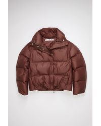 Acne Studios Quilted Down Jacket - Red