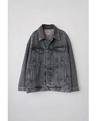 Acne Studios Bk-ux-outw000013 Black/black Oversized Denim Jacket