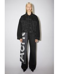 Acne Studios Cropped Denim Jacket black