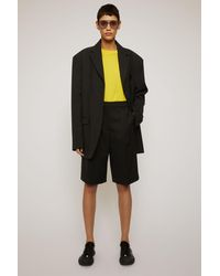 Acne Studios Wool-blend Shorts black
