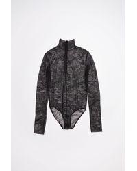 Acne Studios Lace Bodysuit - Black