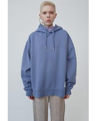 Acne Studios Hooded Sweatshirt blue Melange