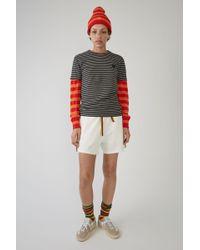 Acne Studios - Slim Fit T-shirt light Grey Melange / Black - Lyst