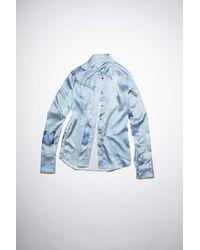Acne Studios Hemd mit Denim-Print - Blau
