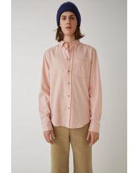 Acne Studios - Classic Fit Shirt powder Pink - Lyst