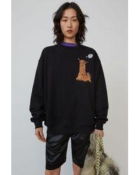 Acne Studios Animal-embroidered Sweatshirt black