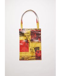 Acne Studios Sp-ux-bags000007 Yellow/red Oilcloth Tote Bag