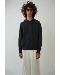Acne Studios - Hooded Sweatshirt black - Lyst