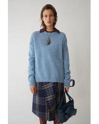 Acne Studios - Loose Fit Sweater light Blue Melange - Lyst