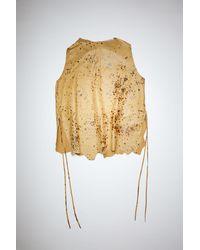 Acne Studios Fn-wn-dres000604 Caramel Brown Oversized Leather Dress